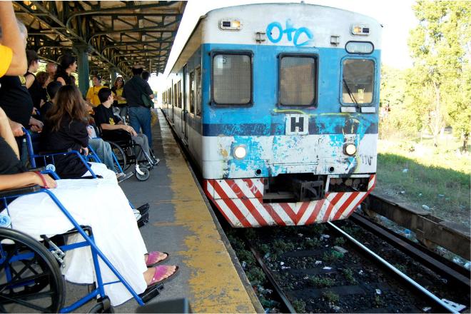Obras de accesibilidad en la estación Palermo del tren San Martín