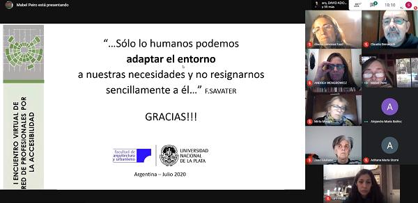 Participamos del I Encuentro Virtual de Red de Profesionales y Docentes de la Accesibilidad